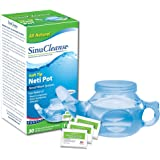 SinuCleanse Soft Tip Neti-Pot Nasal Wash System - Includes 30 All, Natural, Pre-Mixed Buffered Saline Packets - Relieves Nasal Symptoms and Congestion due to Cold, Flu, Dry Air, or Allergies
