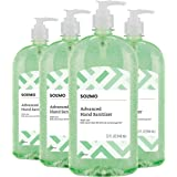 Amazon Brand - Solimo Hand Sanitizer with Vitamin E and Aloe, 32 Fluid Ounce (Pack of 4)