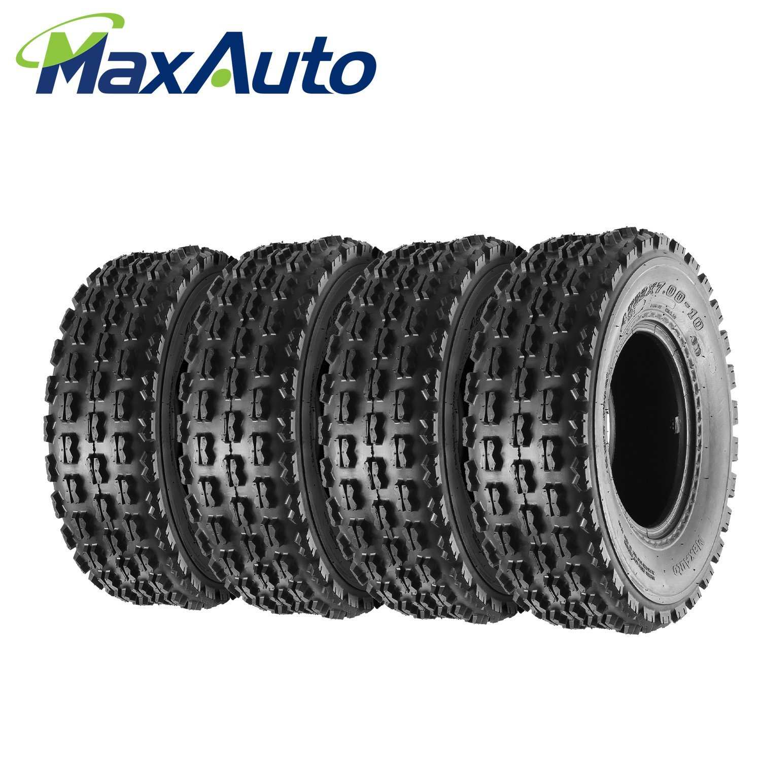 Set of 4 MaxAuto 22x7-10 Front Sport ATV Tires 22x7x10 4-Ply
