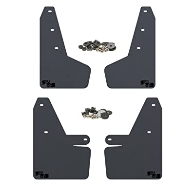 RokBlokz Mud Flaps for 2020 + Subaru Crosstrek - Multiple Colors Available - Mud Guards are Custom Cut and Fit - Includes All Mounting Hardware (Black with Black Logo): Automotive