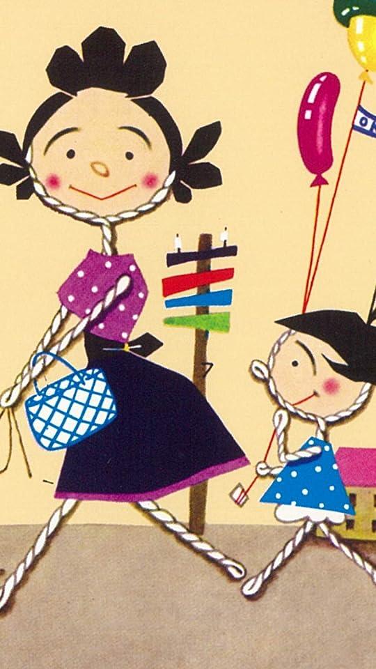 サザエさん フグ田サザエ,磯野ワカメ QHD(540×960)壁紙画像