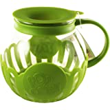 Ecolution Micro-Pop Microwave Popcorn Popper 3QT - Temperature Safe Glass w/Multi Purpose Lid (Large, Green)