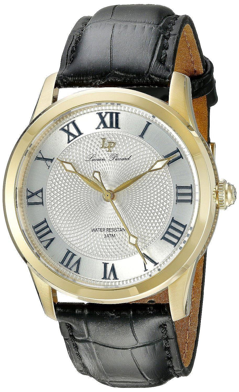 ルシアンピカール Lucien Piccard Men's LP-40005-YG-02S Olympus Analog Display Japanese Quartz Black Watch [並行輸入品] B01AX316Y2