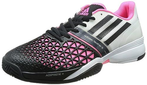 sports shoes 9489e a3f3a Adidas Roland Garros adiZero Feather 3 All-Court Zapatilla de Tenis  Caballero, BlancoNegroRosa, 44 23 Amazon.es Zapatos y complementos
