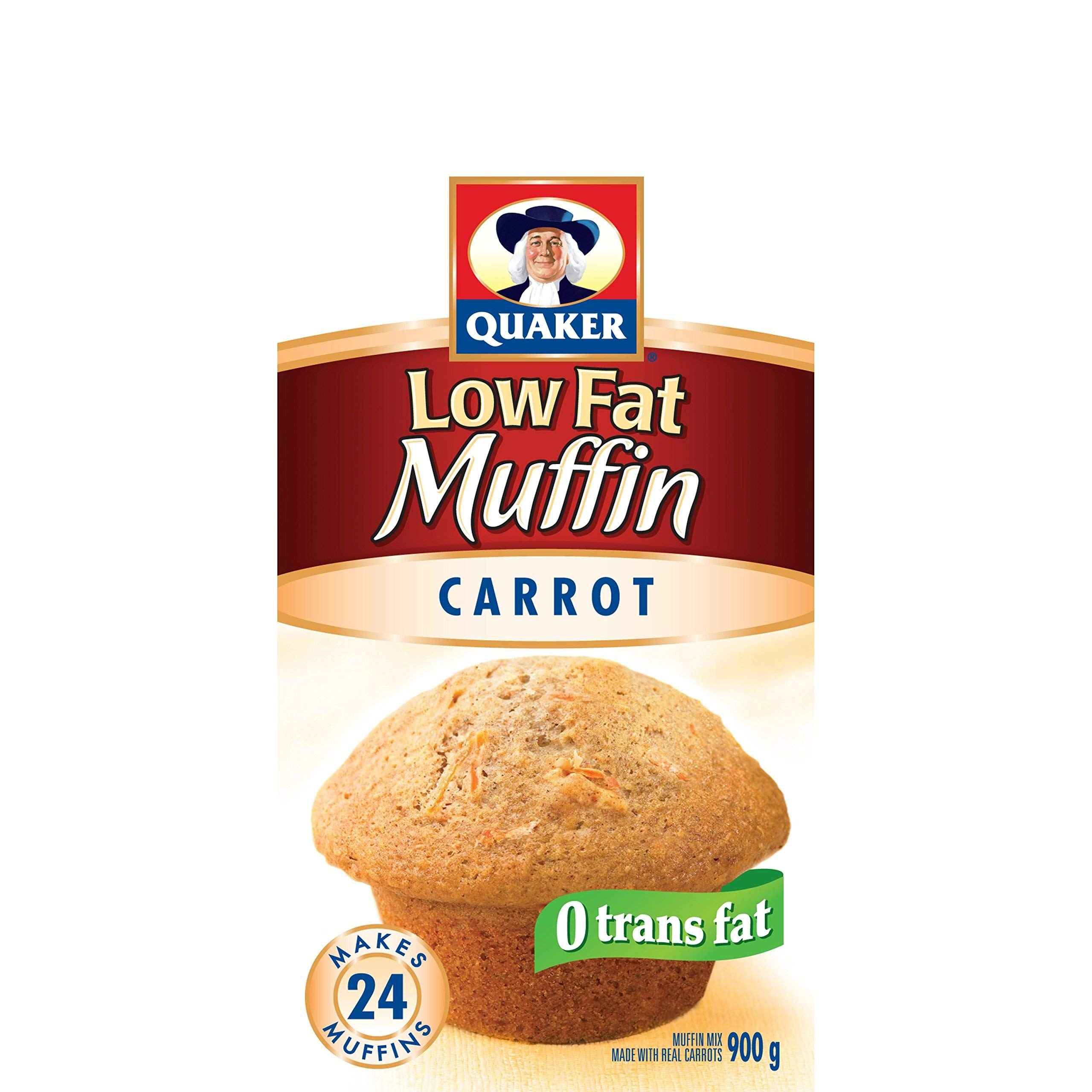 Quaker Muffin Mix Low Fat Carrot, 12ct, 900g {Imported from Canada}