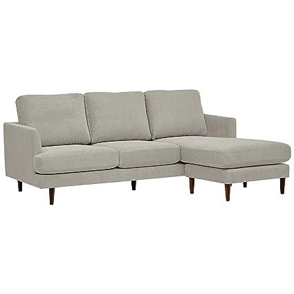 Rivet Goodwin Modern Sectional Sofa - 88.6 Inch, Light Grey