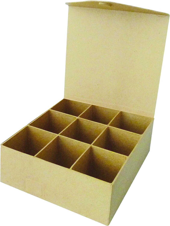 Decopatch - Caja con 9 Compartimentos (Cierre magnético, 21 x 20 x 7,5 cm): Amazon.es: Hogar