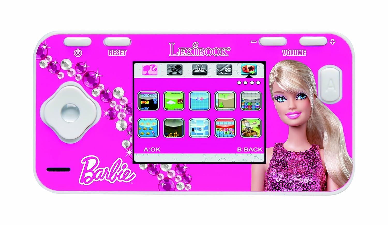 Barbie Lexibook JL2800BB - Console Portatile, 115 giochi classici, 5 giochi, Schermo a colori LCD da 2.4, 16 bit, Batteria ricaricabile, Rosa/Bianco