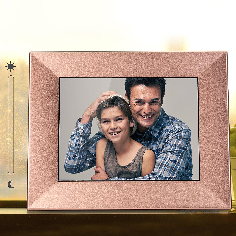 NIXPLAY Iris Marco Digital WiFi Fotos 8 Pulgadas W08E Cobre. USA la Aplicación para Enviar Fotos y Videos al Marco al Instante.