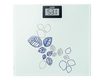 Laica PS1058B - Báscula de baño de cristal, electrónica, capacidad 150 kg, color