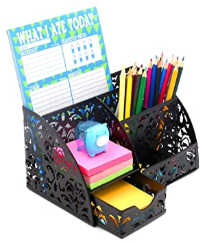 Amazon.com : EasyPAG Office Accessories Desk Organizer Caddy With ...