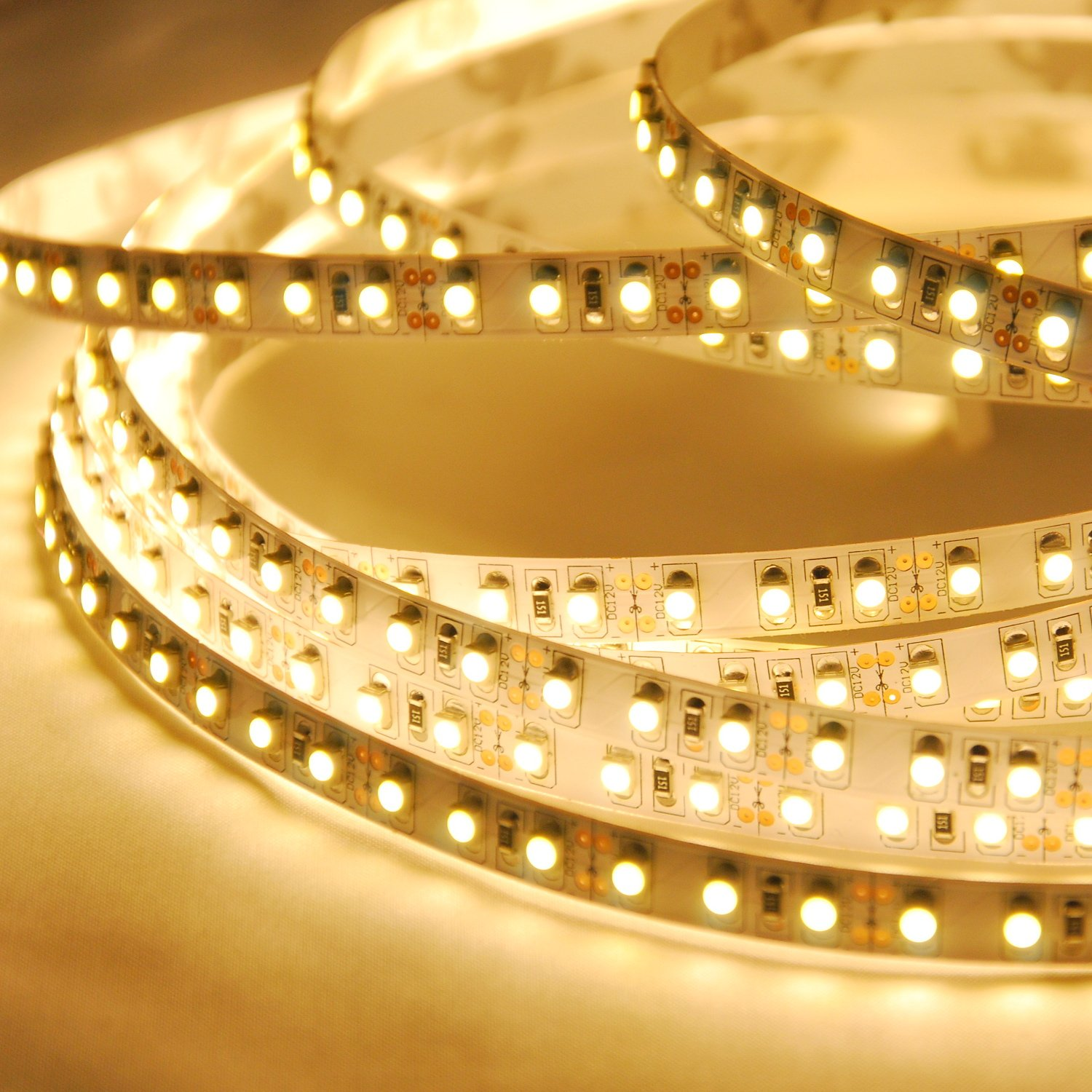 Amazon abi warm white double density flexible led light strip amazon abi warm white double density flexible led light strip with ac adapter 120 led meter led chips 5 meters 164 ft spool 12vdc home aloadofball Image collections