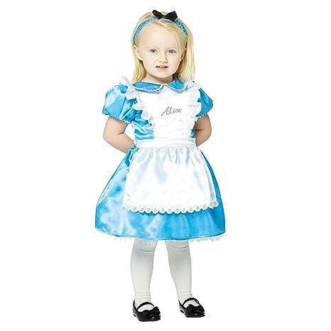 amscan X dcal06 Niños de Disfraces Alice Premium, 68 - 80 cm ...
