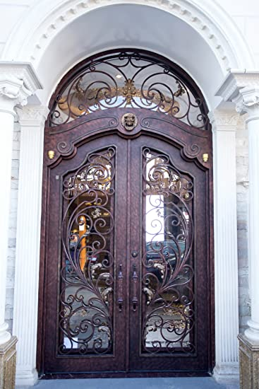 72u0026quot; X 96u0026quot; Wrought Iron Door Set By Monarch Custom Doors   $3455  Plus