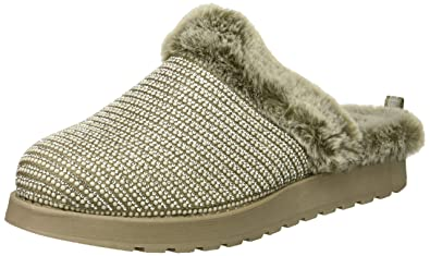 eb036aba818d Skechers BOBS Women s Keepsakes High-Dream Ninja Rhinestone and Pearl Clog  w Memory Foam Slipper