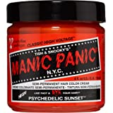 Manic Panic Psychedelic Sunset Hair Dye - Classic High Voltage - Semi Permanent Hair Color - Radiant, Fiery Orange Shade…