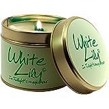 Lily Flame White Lily Tin, l x 7.7cm w x 6.6cm h