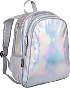Wildkin Kids 15 Inch Backpack for Boys and Girls, Perfect Size for Preschool, Kindergarten and Elementary School, 600-Denier Polyester Fabric Backpacks, BPA-free, (Holographic)