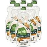 Seventh Generation Dish Soap Liquid Clementine Zest Lemongrass Scent, 114 Fl Oz (6-Pack of 19Oz Each)