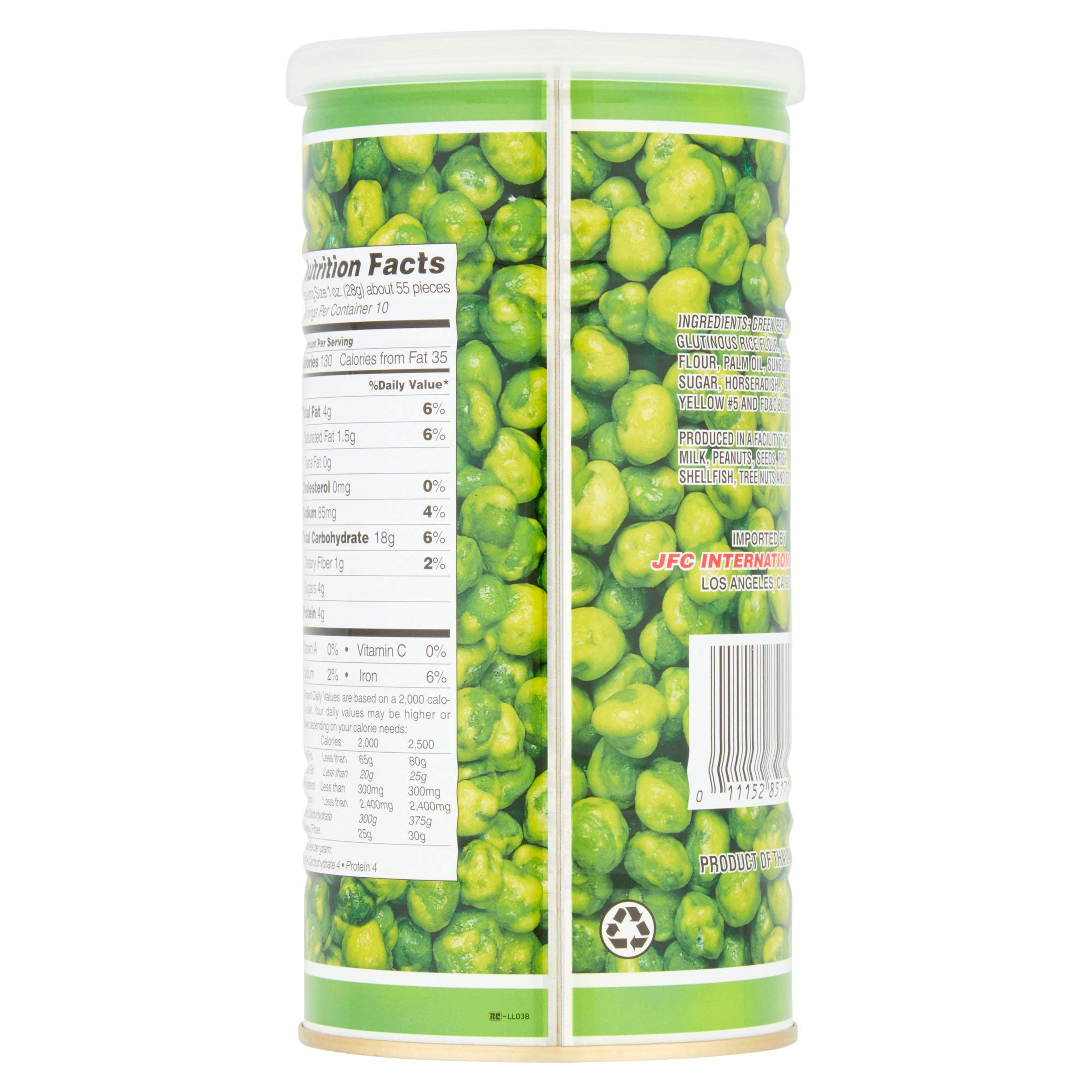 Hapi Snacks Hot Wasabi Peas 9.90oz - 3 Pack by HAPI (Image #4)