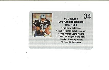 Bo Jackson Los Angeles Raiders 34 Commemorative Metal Plaque 4x6