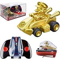 Carrera RC Nintendo Mario Kart 2.4 GHz Mini Collectible Radio Remote Control Toy Car Vehicle - Gold Mario