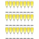 Argon Tableware Champagne Flutes - Party Pack of 24 Glasses - 220ml - 7.7oz