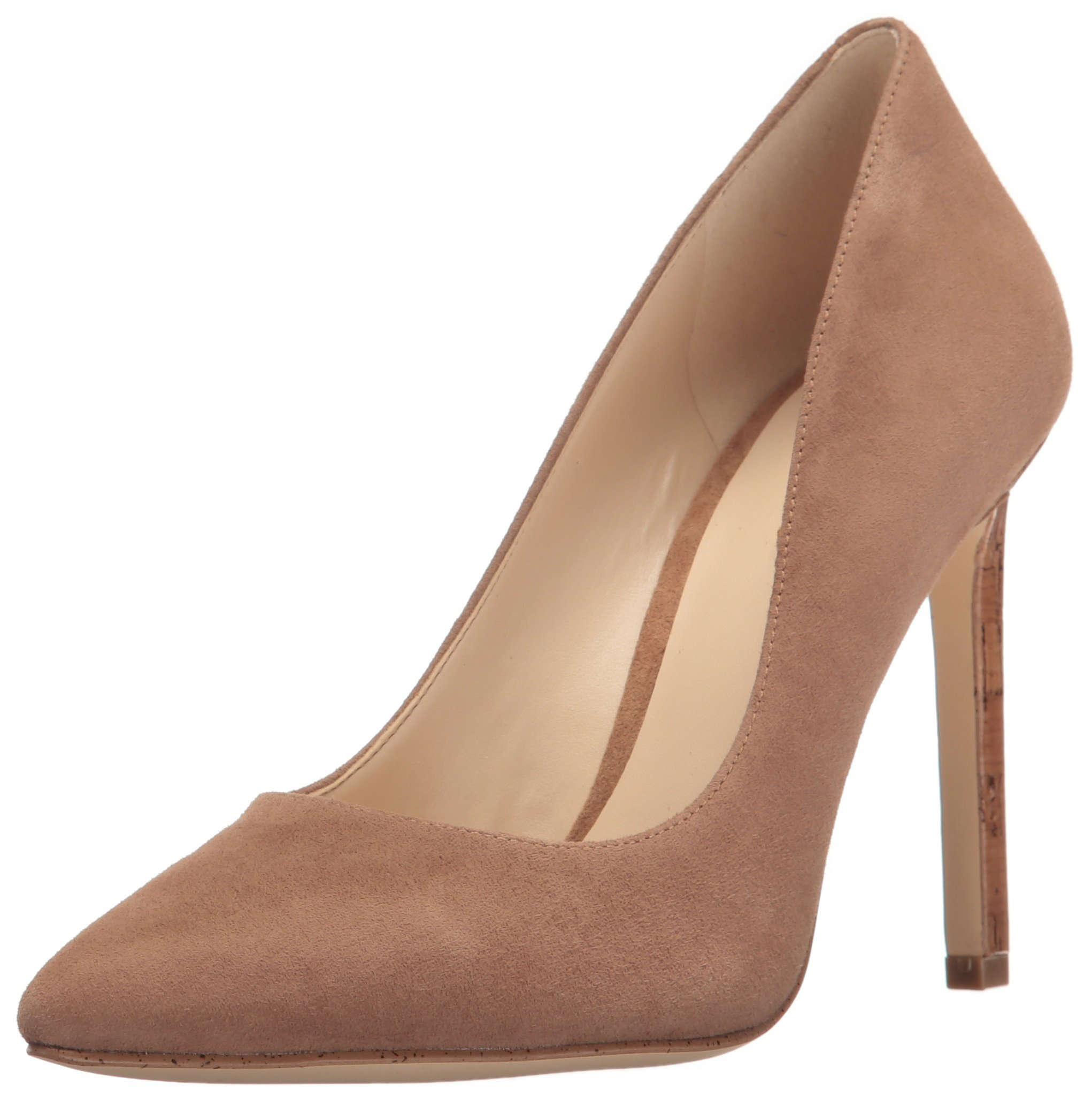 Nine West Women's Tatiana Suede Dress Pump, Dark Natural, 8 M US