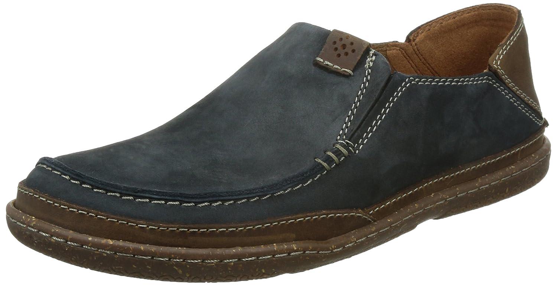 Clarks Trapell Form - Zapatos Casual (Sin Cordones), Hombre 44.5 EU|Azul (Navy Nubuck)