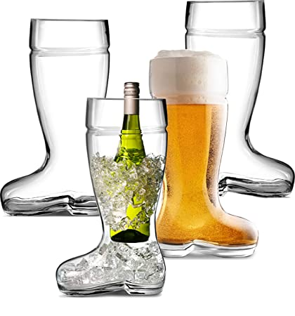8e060b085eb Circleware 08961 Das Boot Huge Set of 4 Beer Glasses Drinking Mugs
