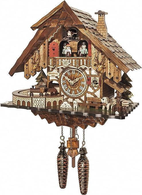Engstler Quarz Kuckucksuhr Schwarzwaldhaus EN 414 Q