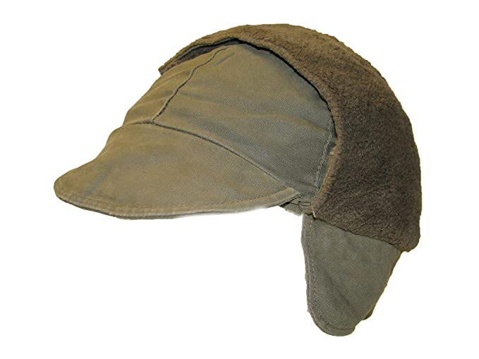 20f670915e6 Genuine German Army Issued Olive Green Winter Pile Hat GRADE 1 USED   Amazon.co.uk  Clothing