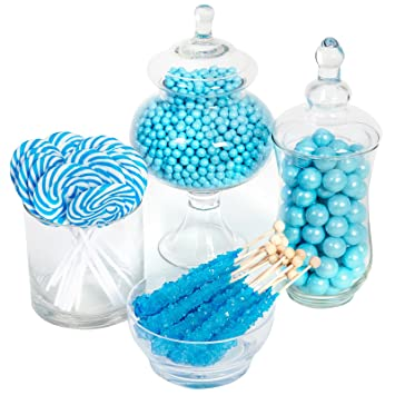 amazon com birthdayexpress turquoise candy kit party candy rh amazon com coral and teal candy buffet teal and gold candy buffet