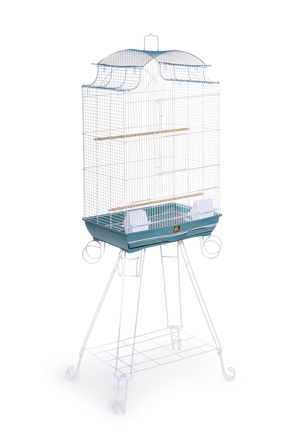Prevue Pet Products Penthouse Suites Pagoda Roof Bird Cage with Stand 270 Blue and White, 20-Inch by 14-Inch by 29-Inch Inc.