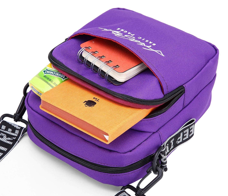 feb5217e8df80 iR547s Small Square Crossbody Travel Pouch Shoulder Bag, 8.5x7.0x2 ...