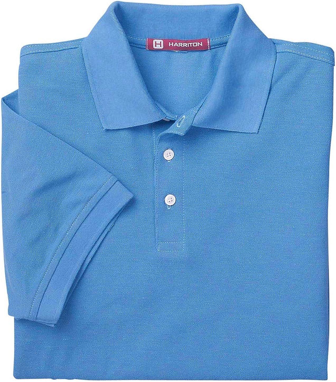 Harriton Men's Easy Blend Pique Polo Shirt