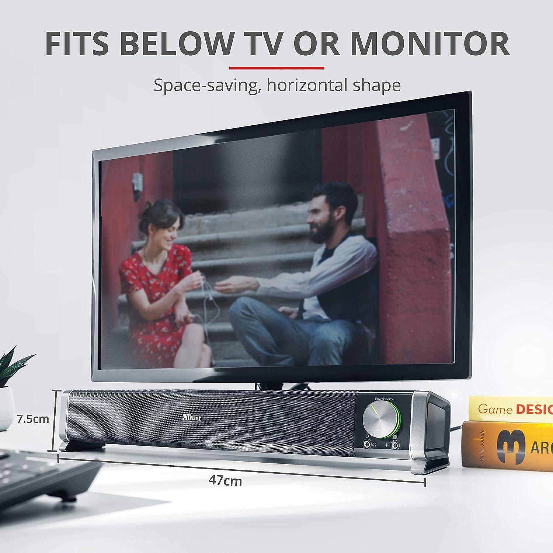 Trust Asto - Barra de Sonido para PC (12 W, conexión USB, estándar ...