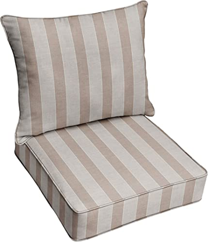 Mozaic Company AMZ269911TESCP Sunbrella Range Dune Indoor Outdoor Cushion