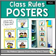 Class Rules Posters {colorful classroom rules}