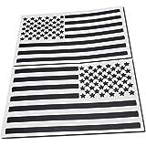 "Az Auto Graphics USA American Flag Decal (4"" x 7"", Matte Black)"