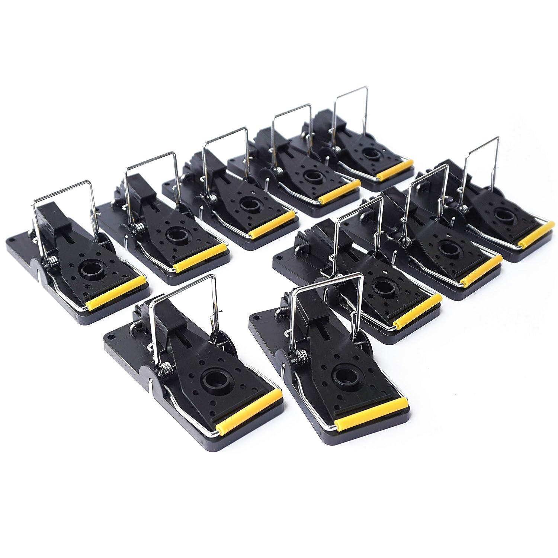 ProfessionalTree® Set de 10 trampas para Ratones, trampas de Cebo, trampas - Eliminación Segura e higiénica de Ratones - Control de plagas - Plástico Color ...