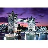 Toile artistique prête à poser Motif Londres Tower Bridge Taille L A1 76,2 x 50,8 cm