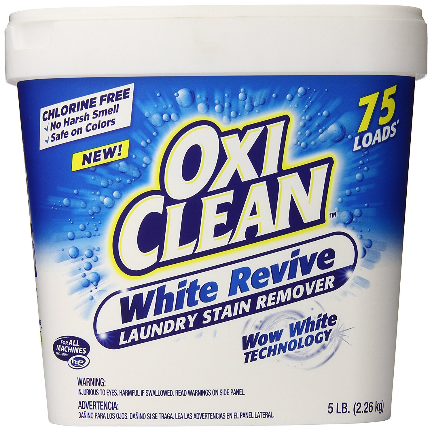 Oxiclean White Revive Powder Laundry Stain Remover, 5 Pound (Pack of 4)