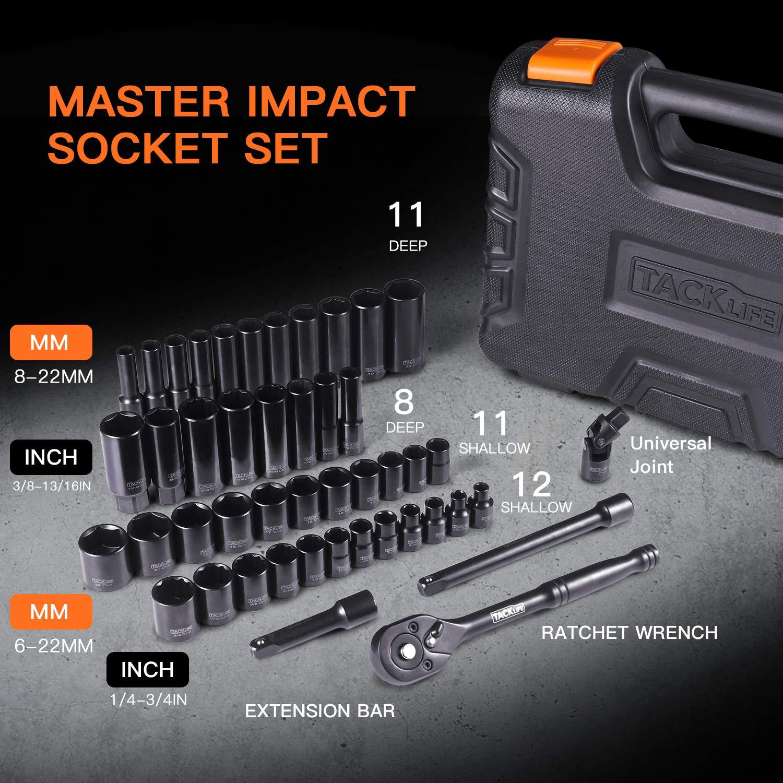 46pcs 3//8 Drive Socket Set,Tools Kit and Socket Set-SWS2A
