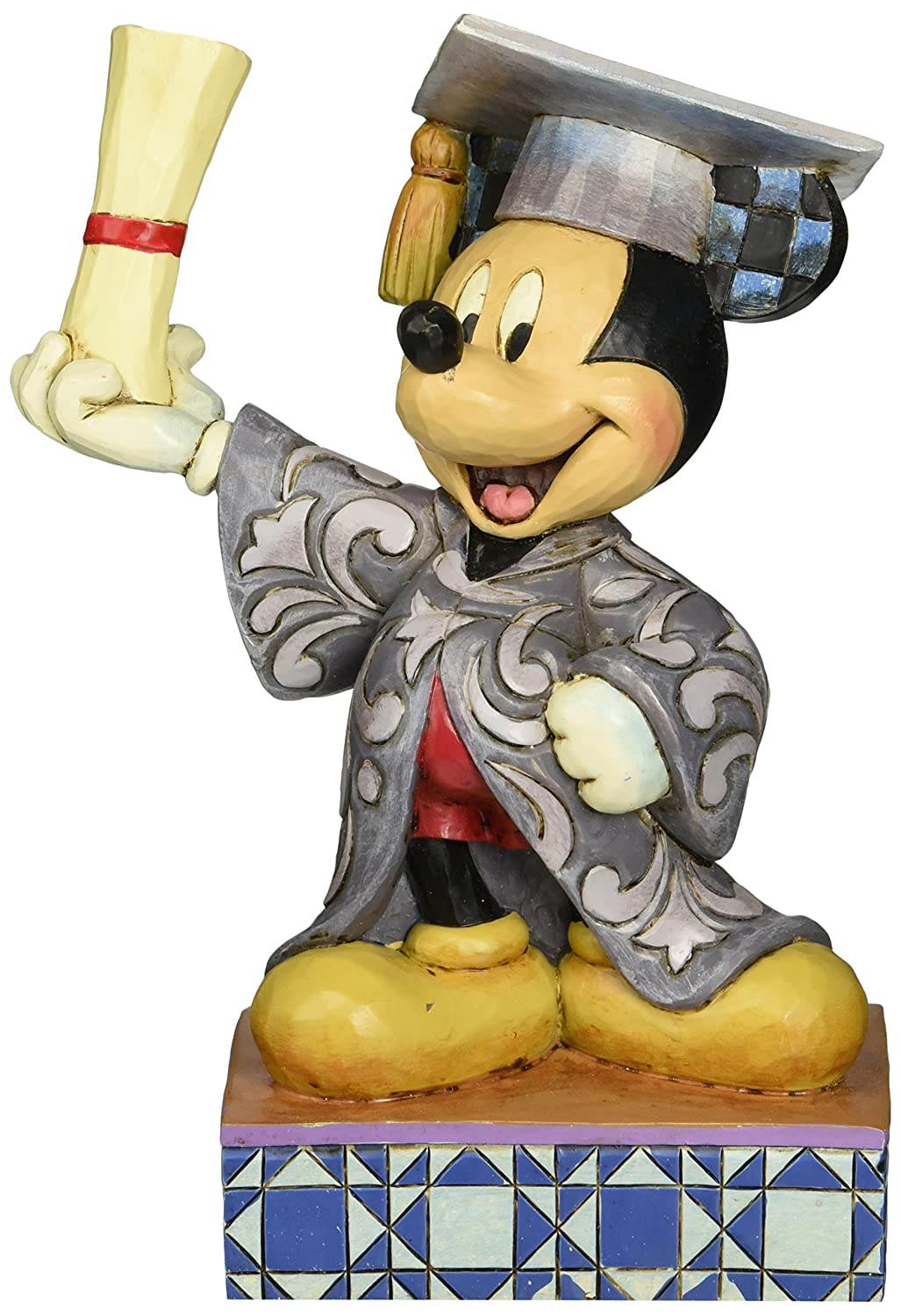 Enesco Jim Shore disney Traditions You Did It. Graduation Mickey Maus Figur