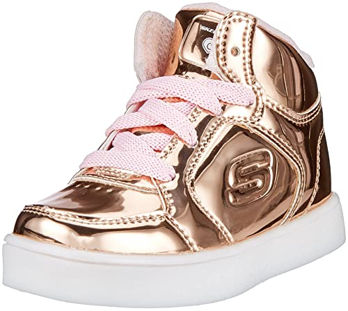 Skechers 10857N Toddlers S Lights: Energy Lights - Lil Dazzle Shoes, Rose Gold -