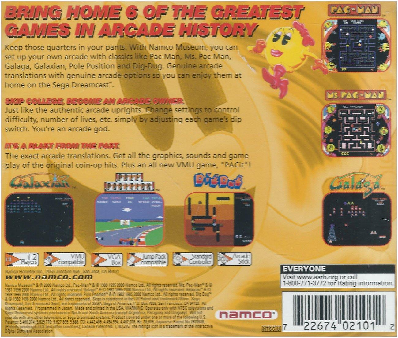 Amazon com: Namco Museum Volume 1: Video Games