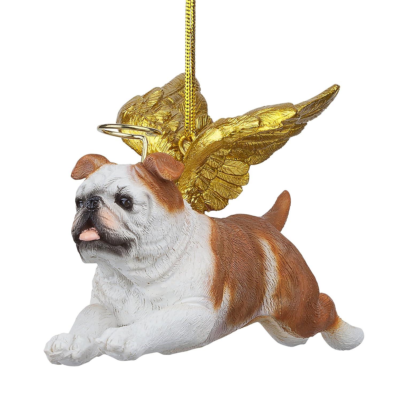 Christmas Tree Ornaments Honor The Pooch Bulldog Holiday Angel Dog