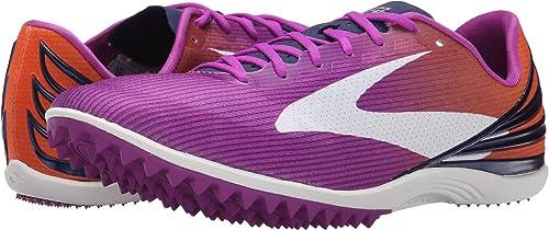 3a2a23a0f3815 Brooks Women s Mach 17 Spikeless Purple Cactus Flower Orange  Popsicle Blueprint Athletic Shoe
