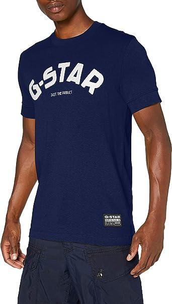 G-STAR RAW Felt Applique Logo Slim Camiseta para Hombre